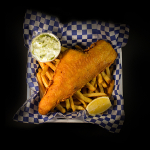 8 oz Piece of Haddock Beer Batter Fish and Chips
