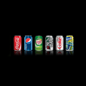 Canned Drinks - Coca Cola, Pepsi, Canada Dry, Barqs, Diet Coke, Brisk