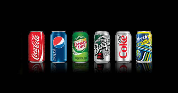 Canned Drinks - Coca Cola, Pepsi, Canada Dry, Barqs, Diet Coke, Brisk